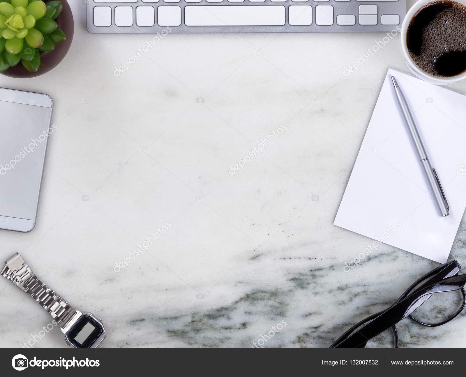 Surface de bureau marbre avec bordure du cercle d affaires for Surface de bureau