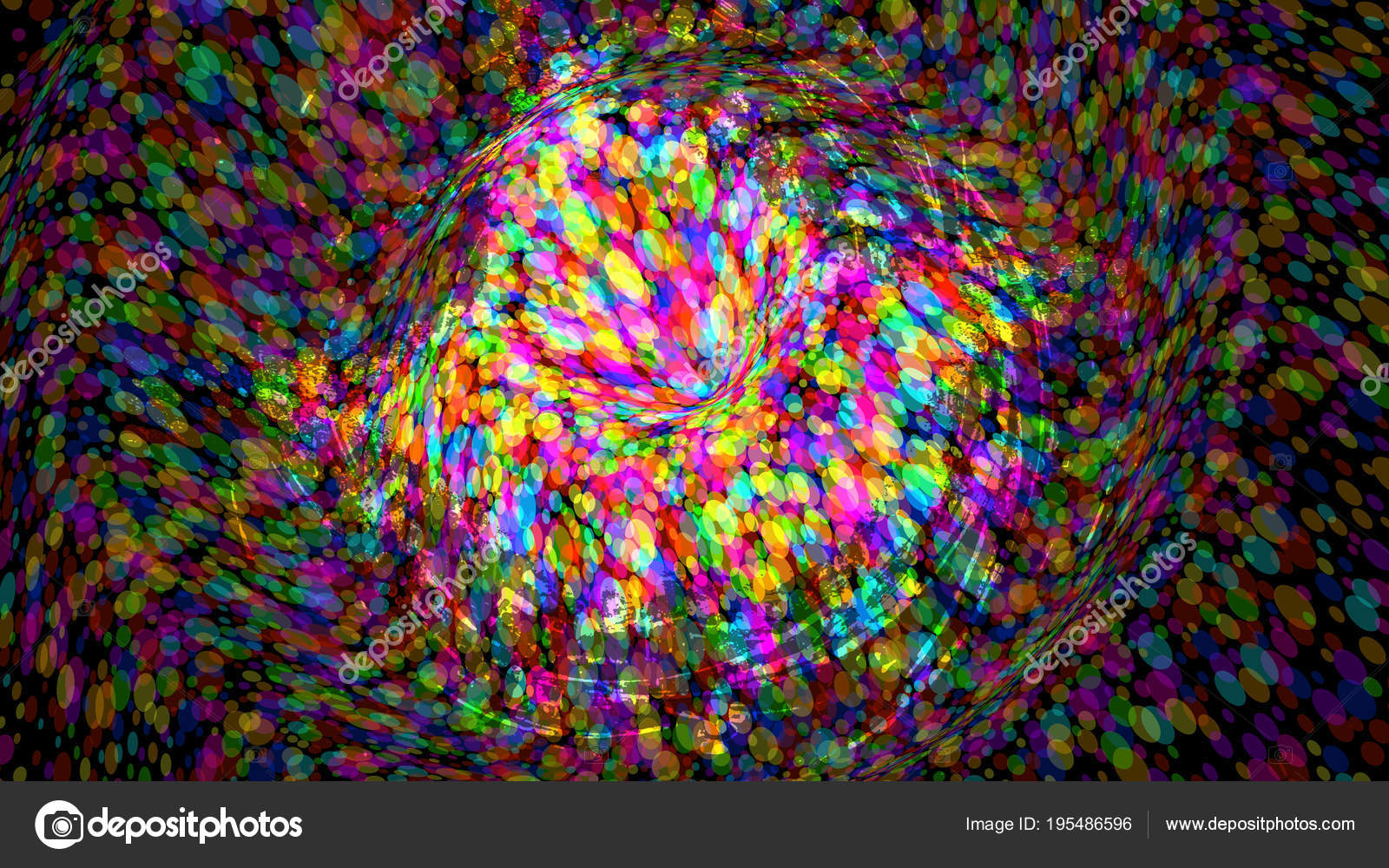 Wide Format Abstract Colorful Wallpaper Vector Stock