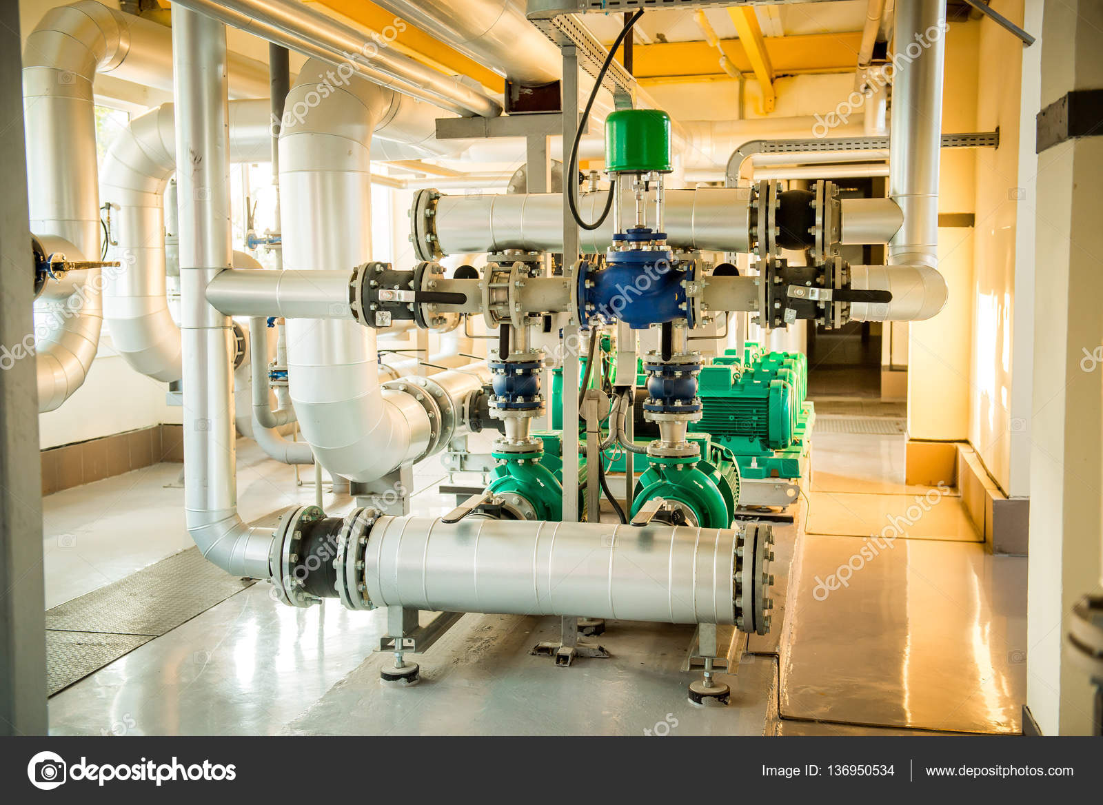 High Resolution Boiler Room Image