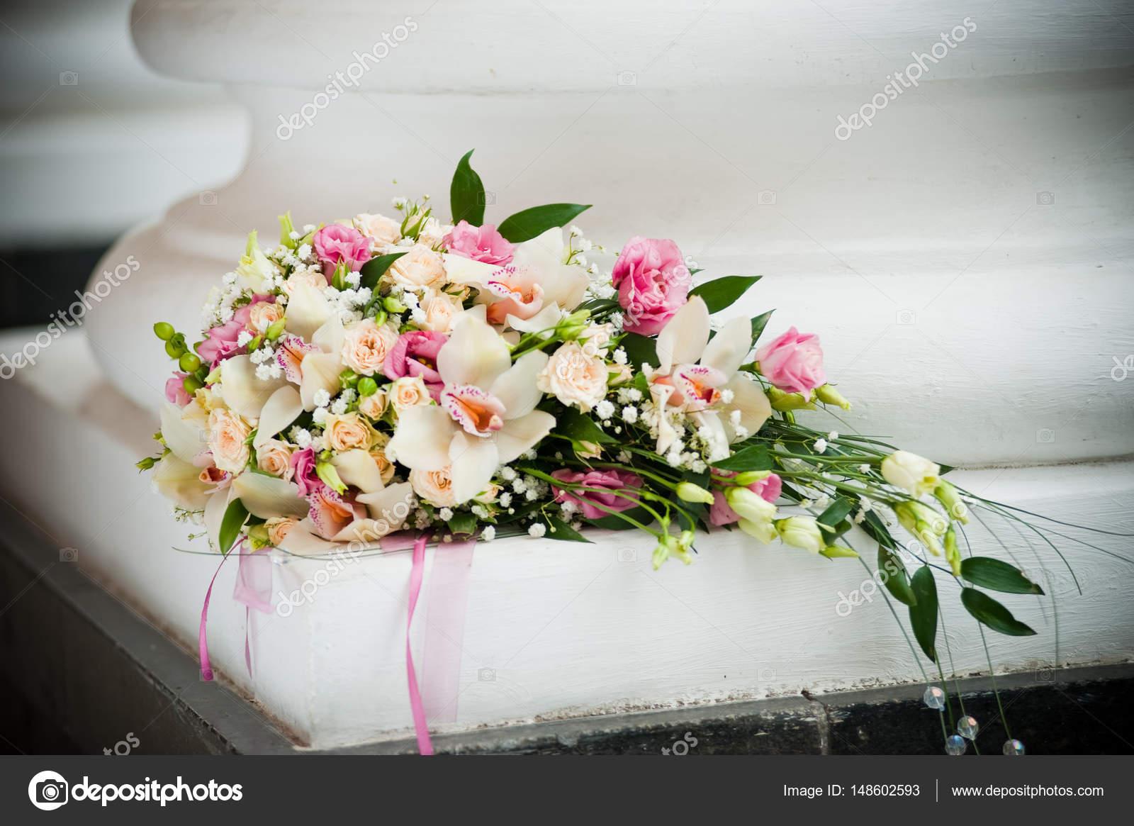 Wedding bouquet of different flowers stock photo white78 148602593 wedding bouquet of different flowers stock photo izmirmasajfo Gallery