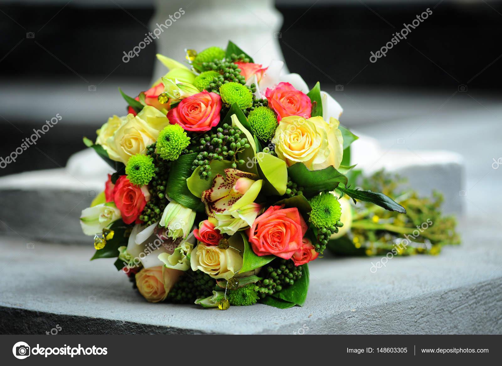 Wedding bouquet of different flowers stock photo white78 148603305 wedding bouquet of different flowers stock photo izmirmasajfo
