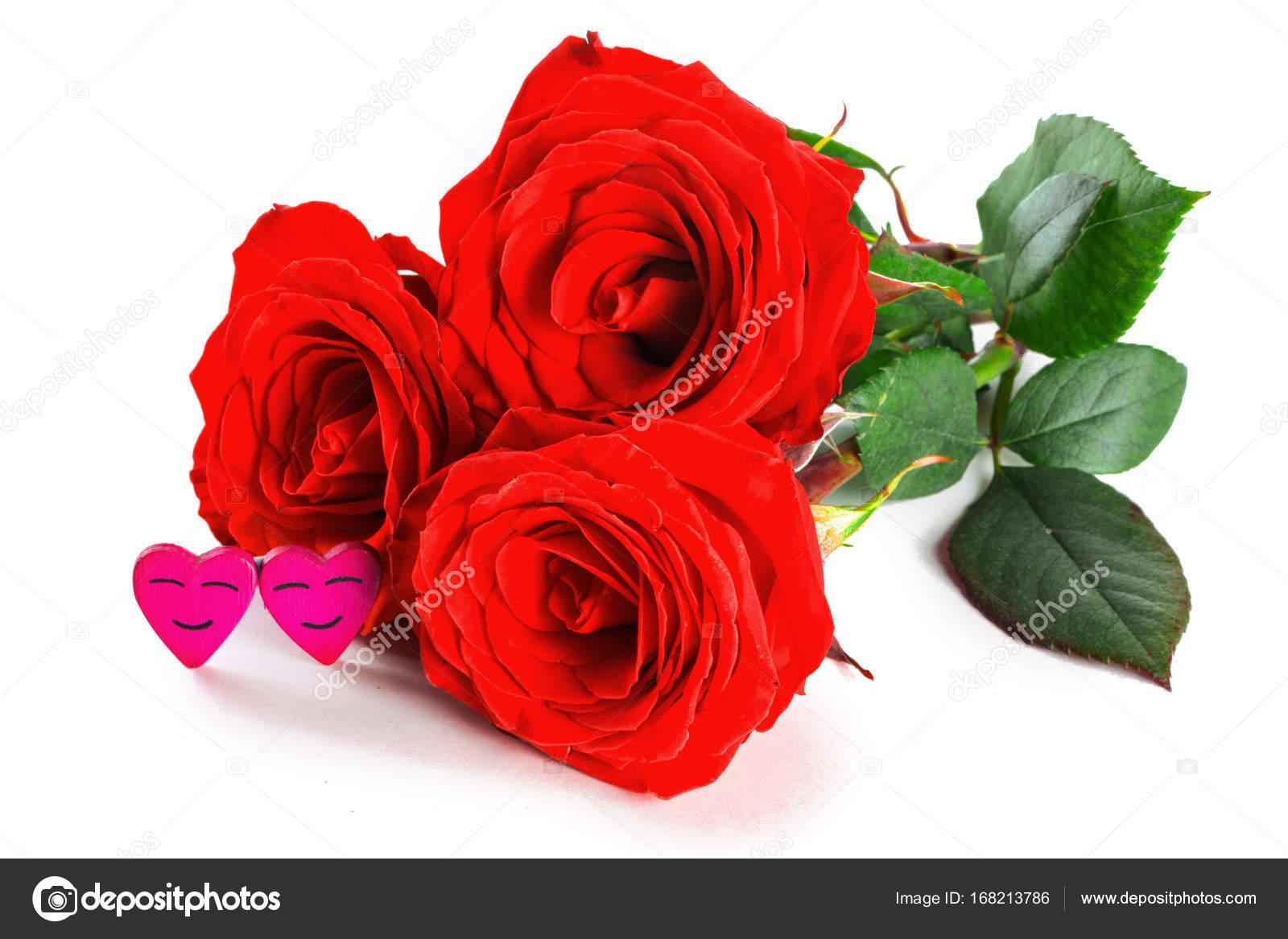 rosas y corazones foto de stock
