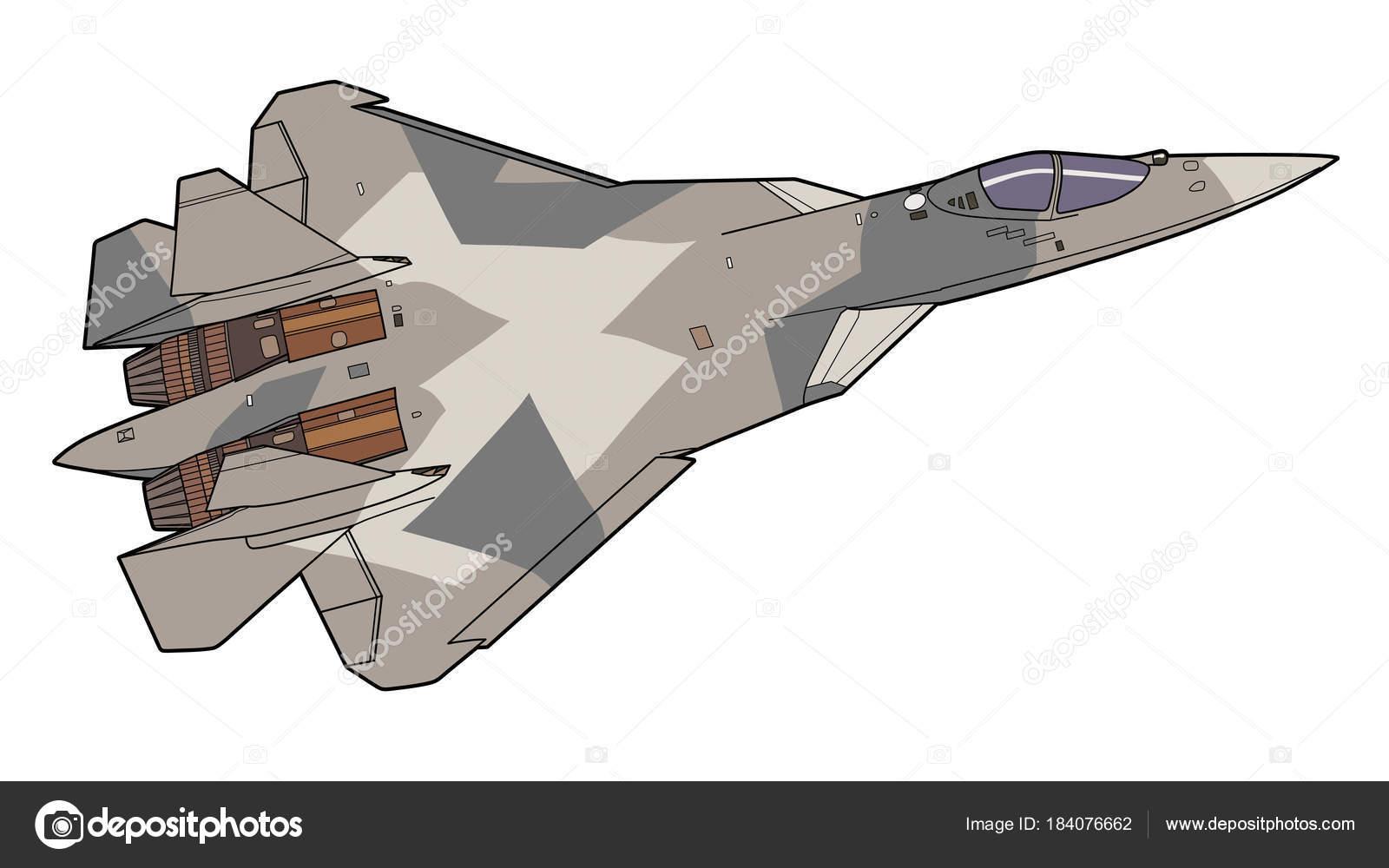 Avión del combatiente de jet ruso moderno — Archivo Imágenes ...