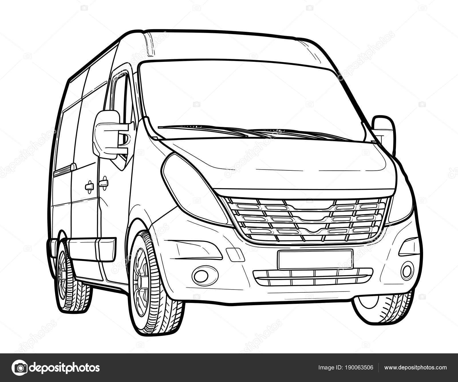 Empate técnico moderno minibus — Vector de stock © benzobak #190063506