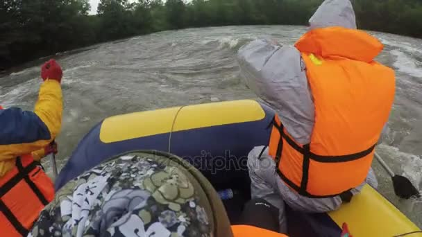Rafting on Kamchatka Peninsula in rainy weather