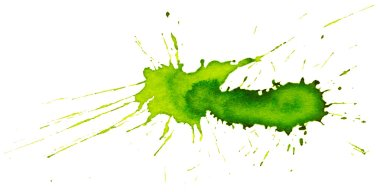 Green paint blots