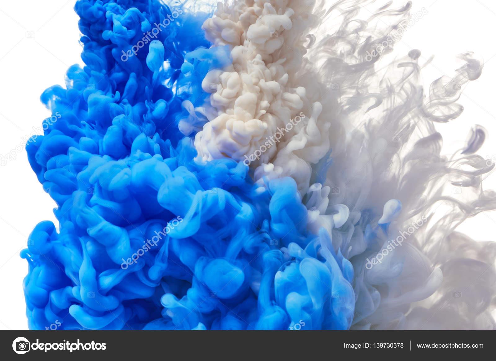 Salpicaduras de pintura azul y blanca foto de stock nik merkulov 139730378 - Salpicaduras de pintura ...