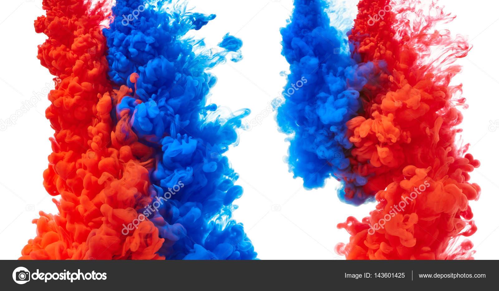 blaue und rote abstrakte farbe spritzen — stockfoto © nik_merkulov