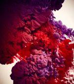 színes tinta a víz