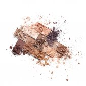 Fotografie Colored crushed eye shadow isolated on white background