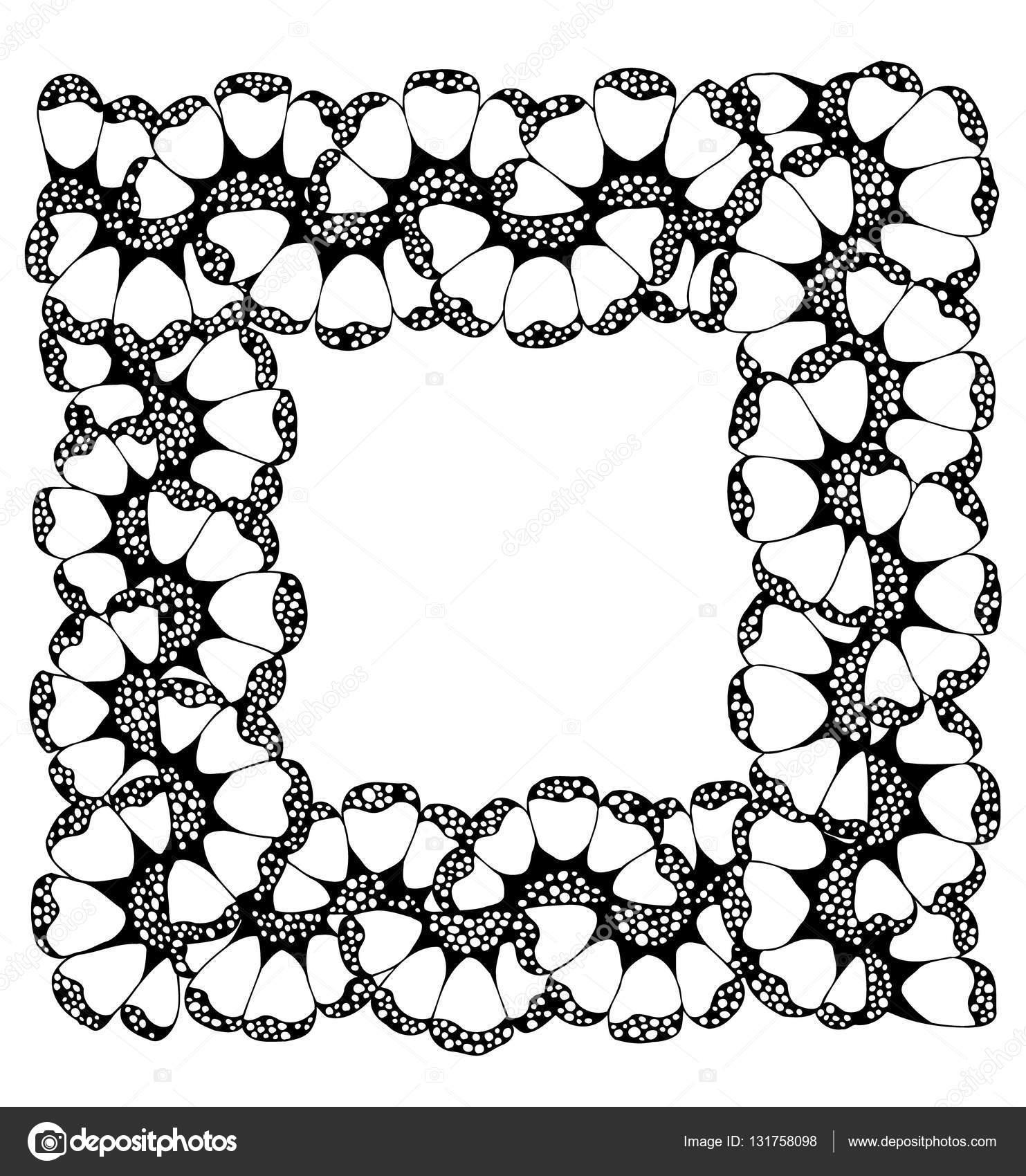 Fotorahmen. Vektor-Bild in schwarz / weiß — Stockvektor © maryafro ...