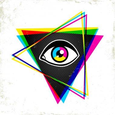 pypamid and eye.