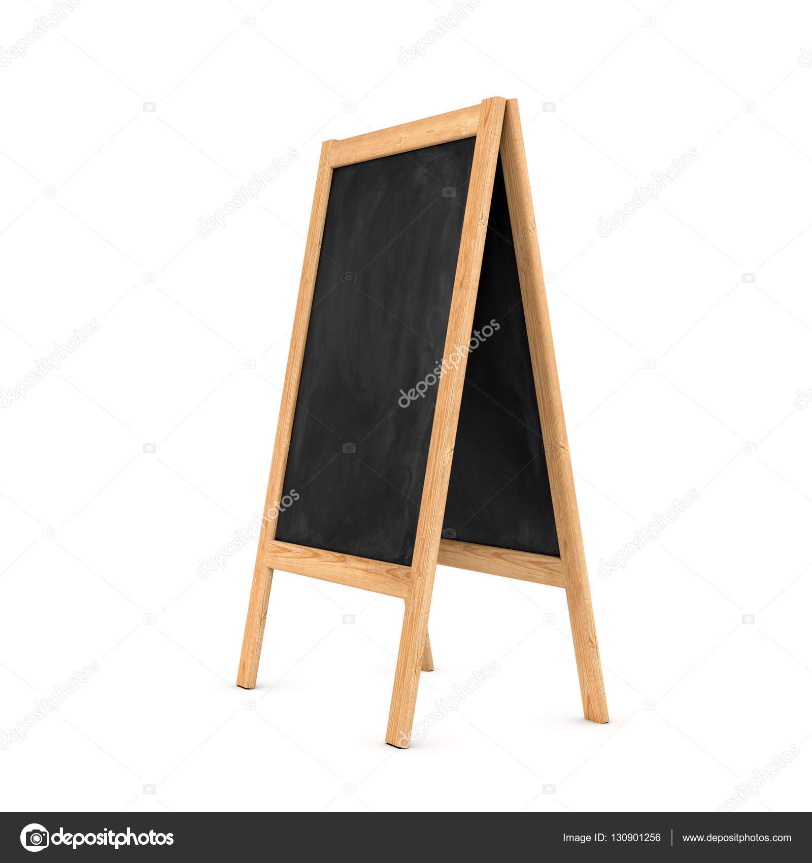Darstellung der saubere schwarze Tafel Staffelei in den Holzrahmen ...