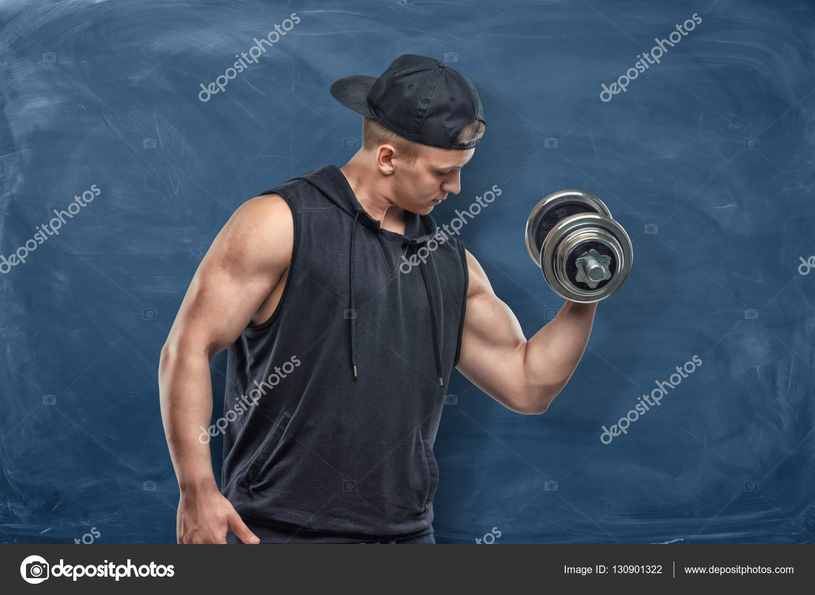 Muscled biceps