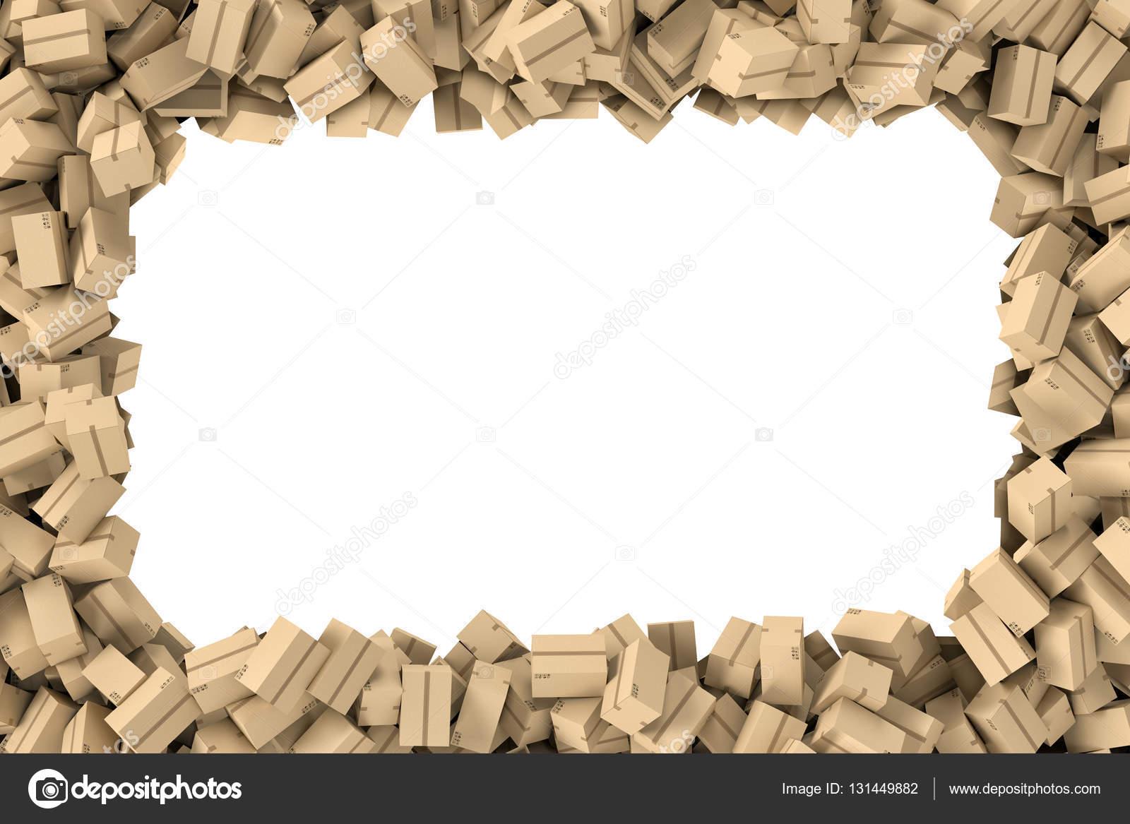 Representación marco rectangular hecho de cajas de luz correo ...