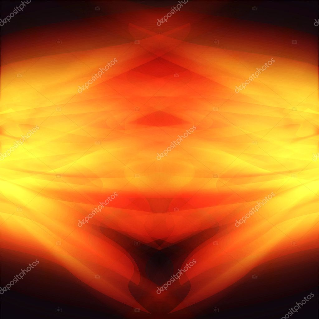 Glowing background with bright fire