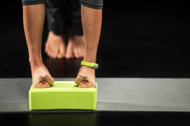 Sportswoman doing plank exercise