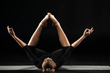 Woman lying and meditating