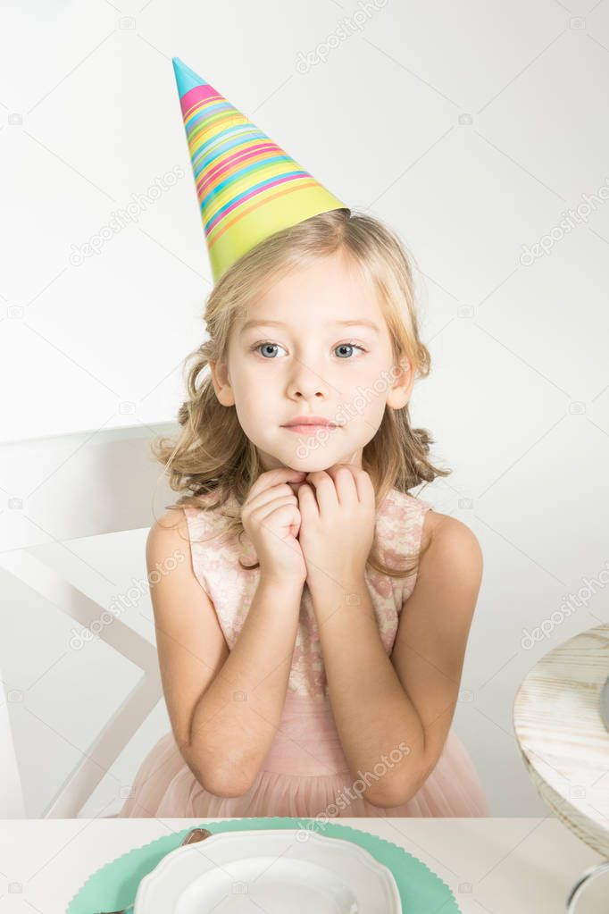 Cute girl in party hat