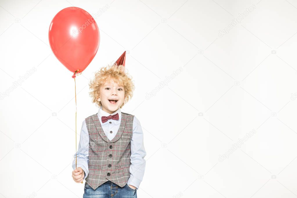 Boy with air balloon