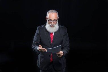 Senior businessman in eyeglasses