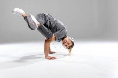 Athletic man dancing