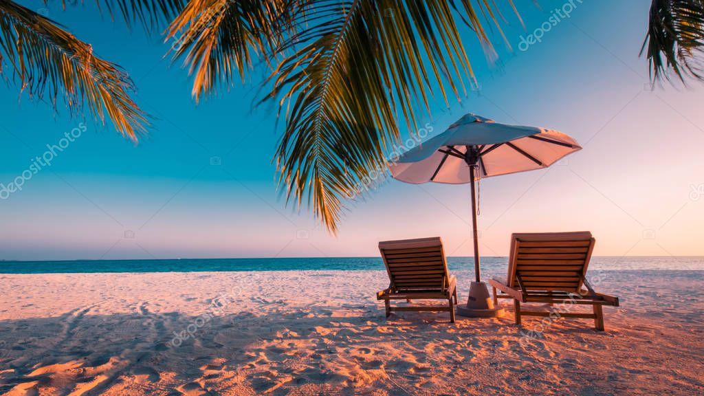 Été plage tourisme vacances vacances voyage concept fond. Fond d'écran romantique idyllique ...