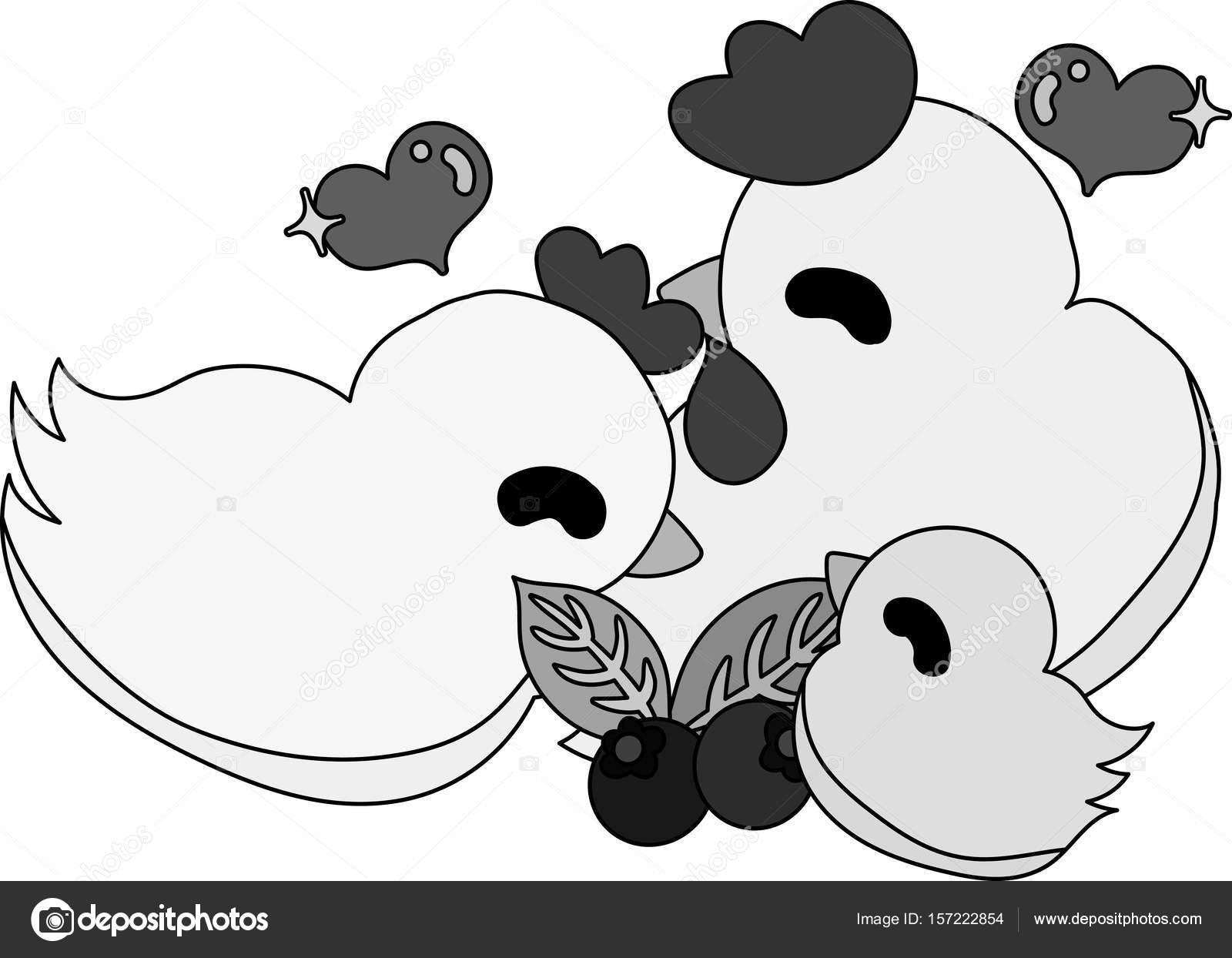 Il Pollame Domestico Carina E Pulcino Vettoriali Stock Chiharu T