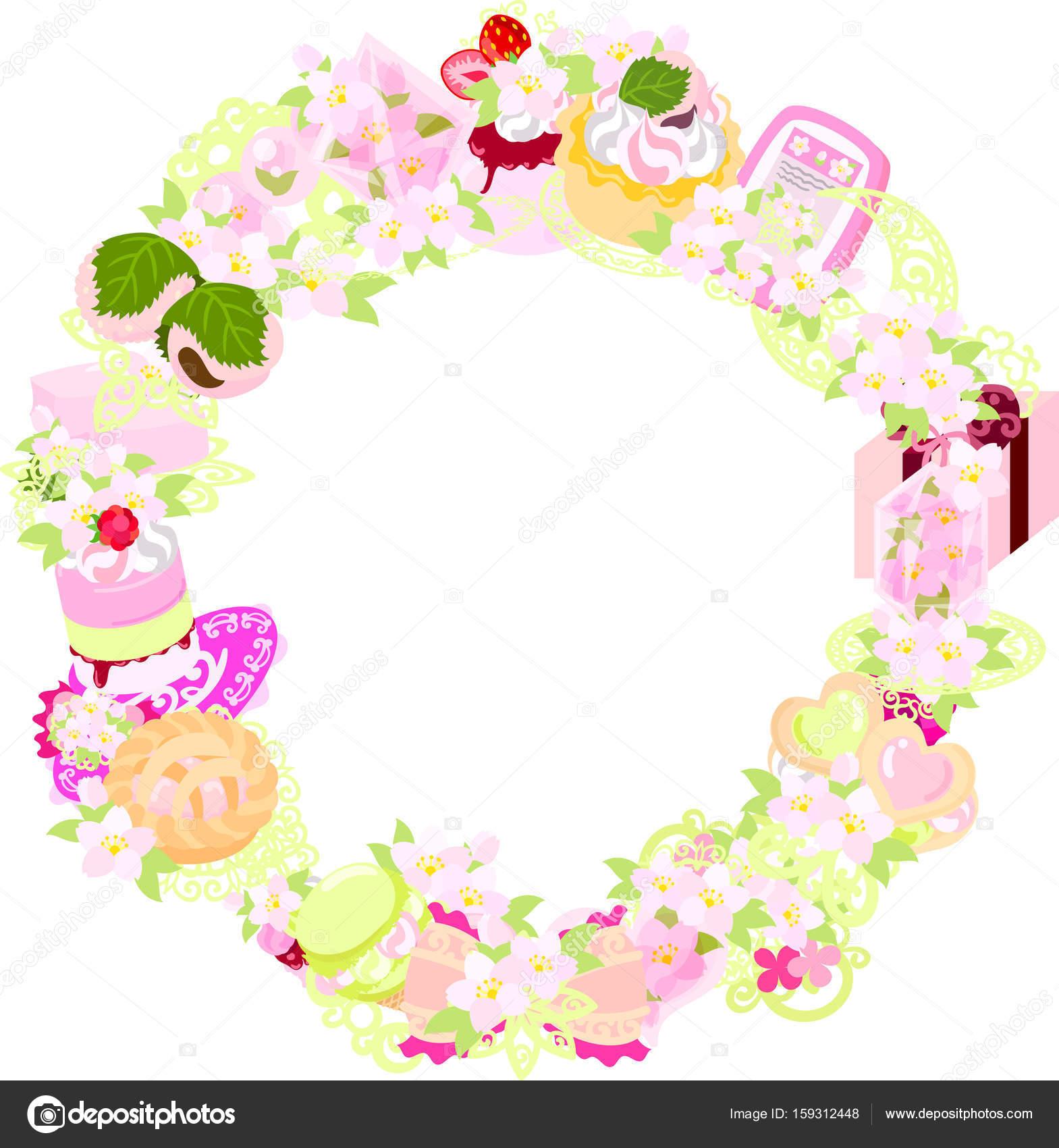 La corona de los objetos de la flor de cerezo — Archivo Imágenes ...