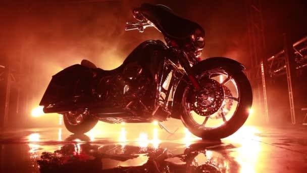 Světelné paprsky na motocyklu