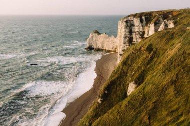 Etretat beach and white cliffs