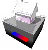 Fotografie detached  house with geothermal source heat pump