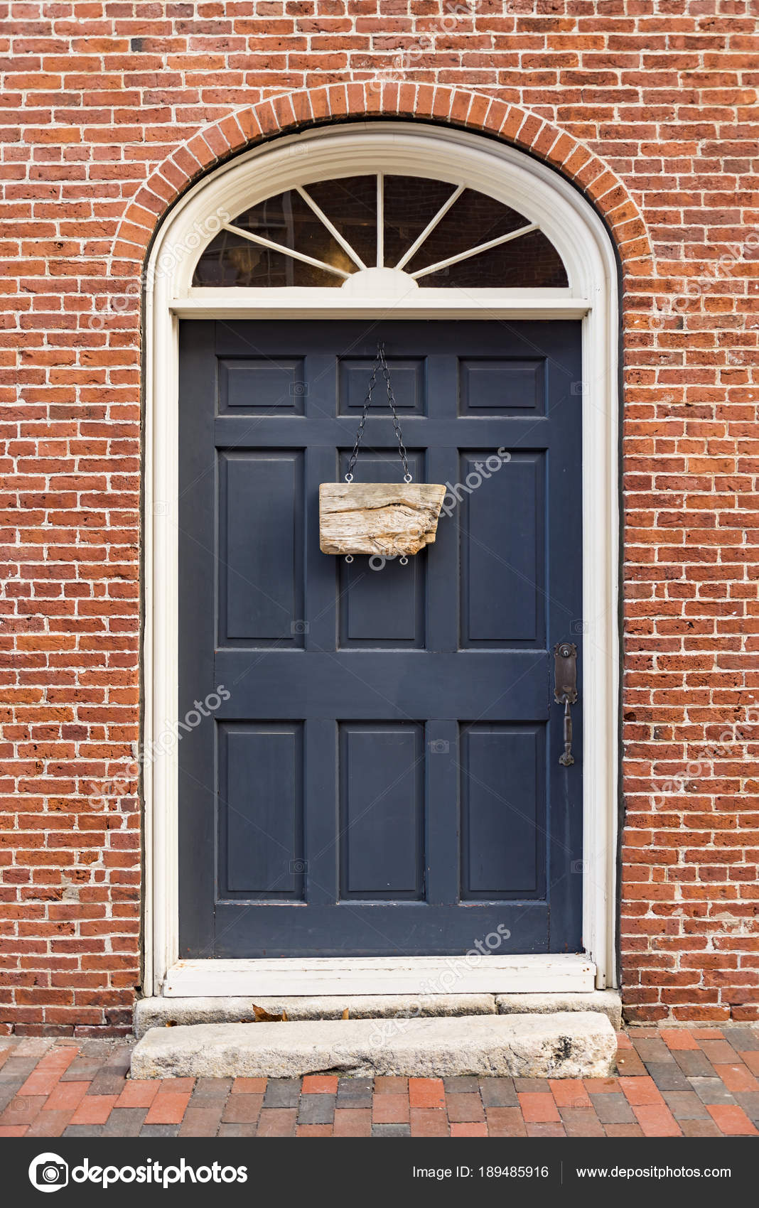 Front Door Of A House In Portsmouth Nh Stock Photo Edella 189485916