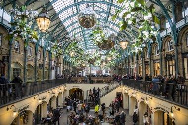 Inside Coven Garden in London UK
