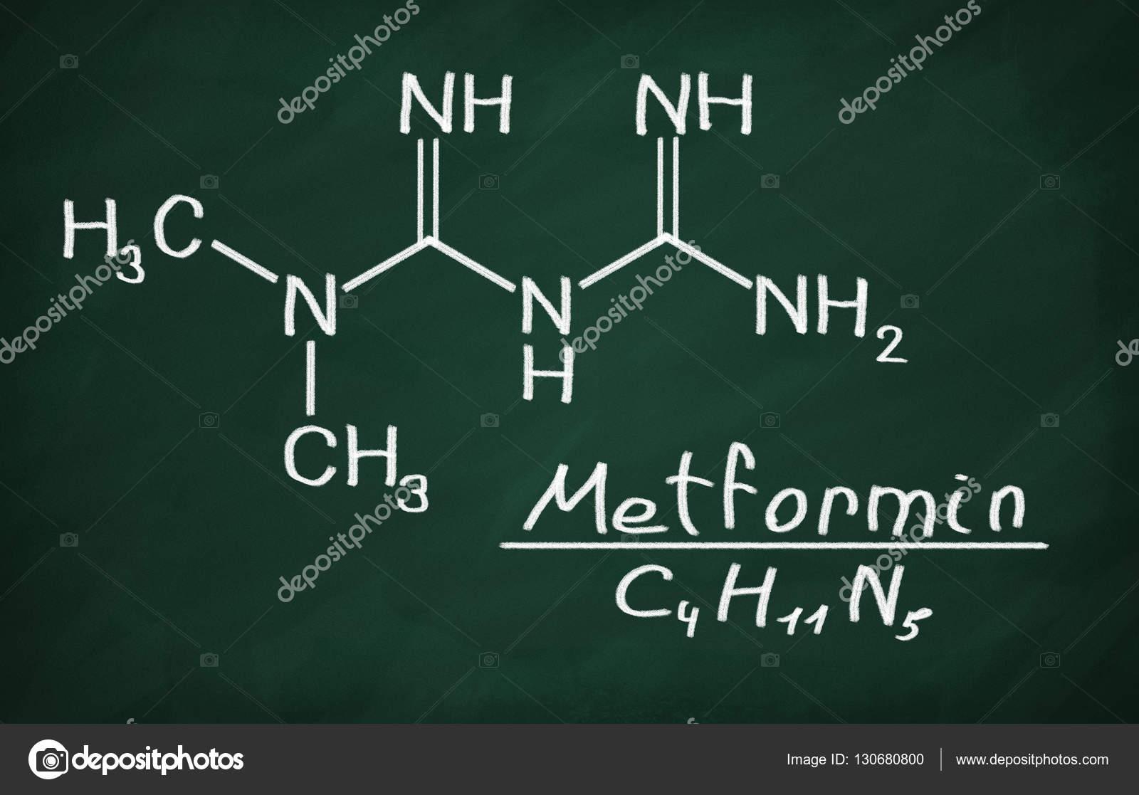 Modelo estructural de la metformina — Foto de stock © Makaule #130680800