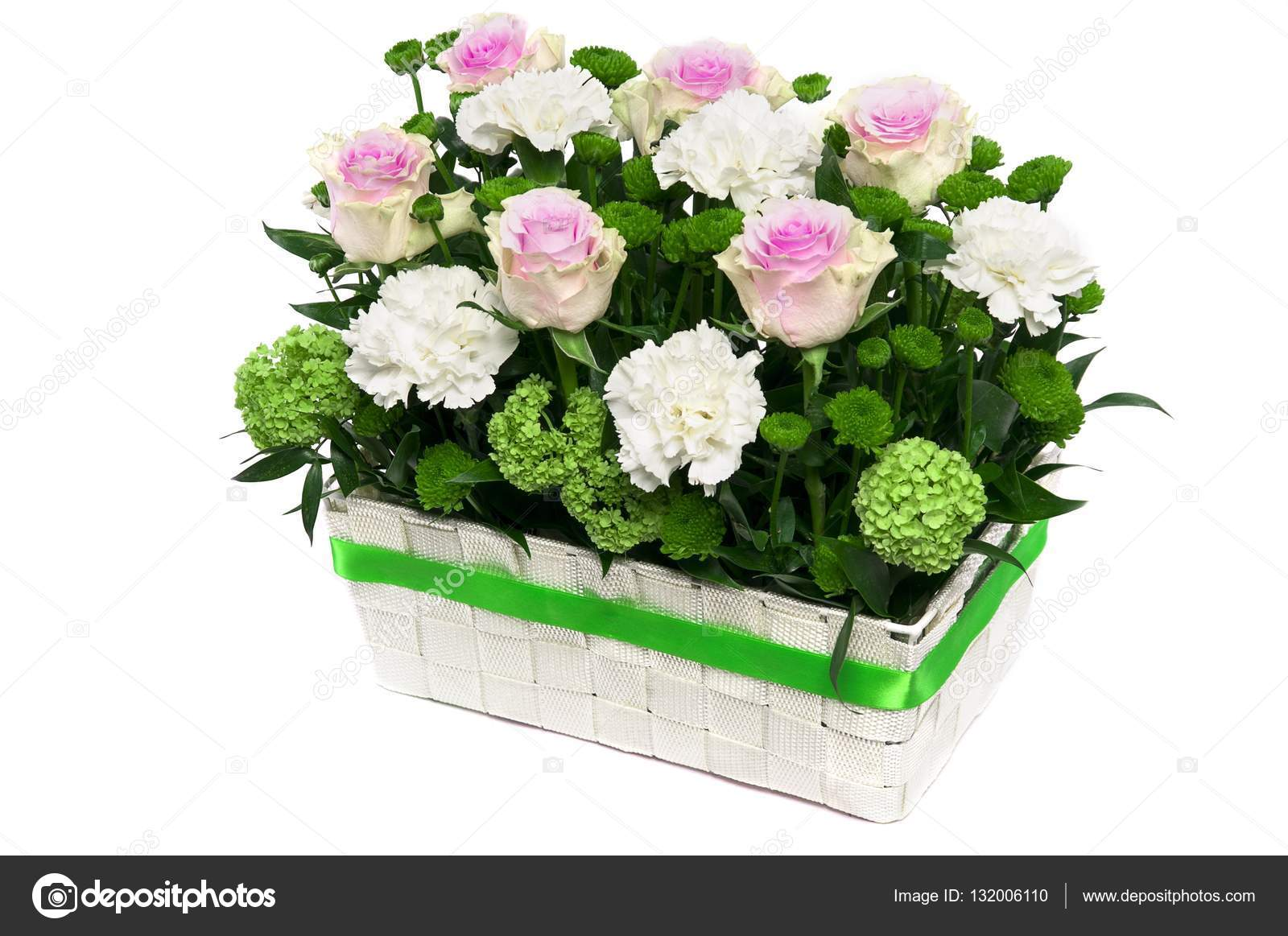 Beautiful flowers in a basket stock photo stockcrafter 132006110 beautiful flowers in a basket isolated photo by stockcrafter izmirmasajfo