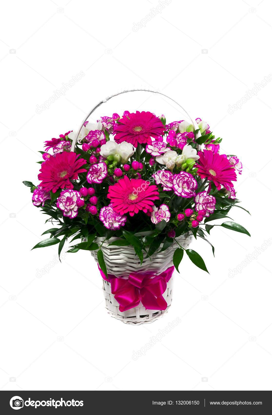 Beautiful flowers in a basket stock photo stockcrafter 132006150 beautiful flowers in a basket isolated photo by stockcrafter izmirmasajfo