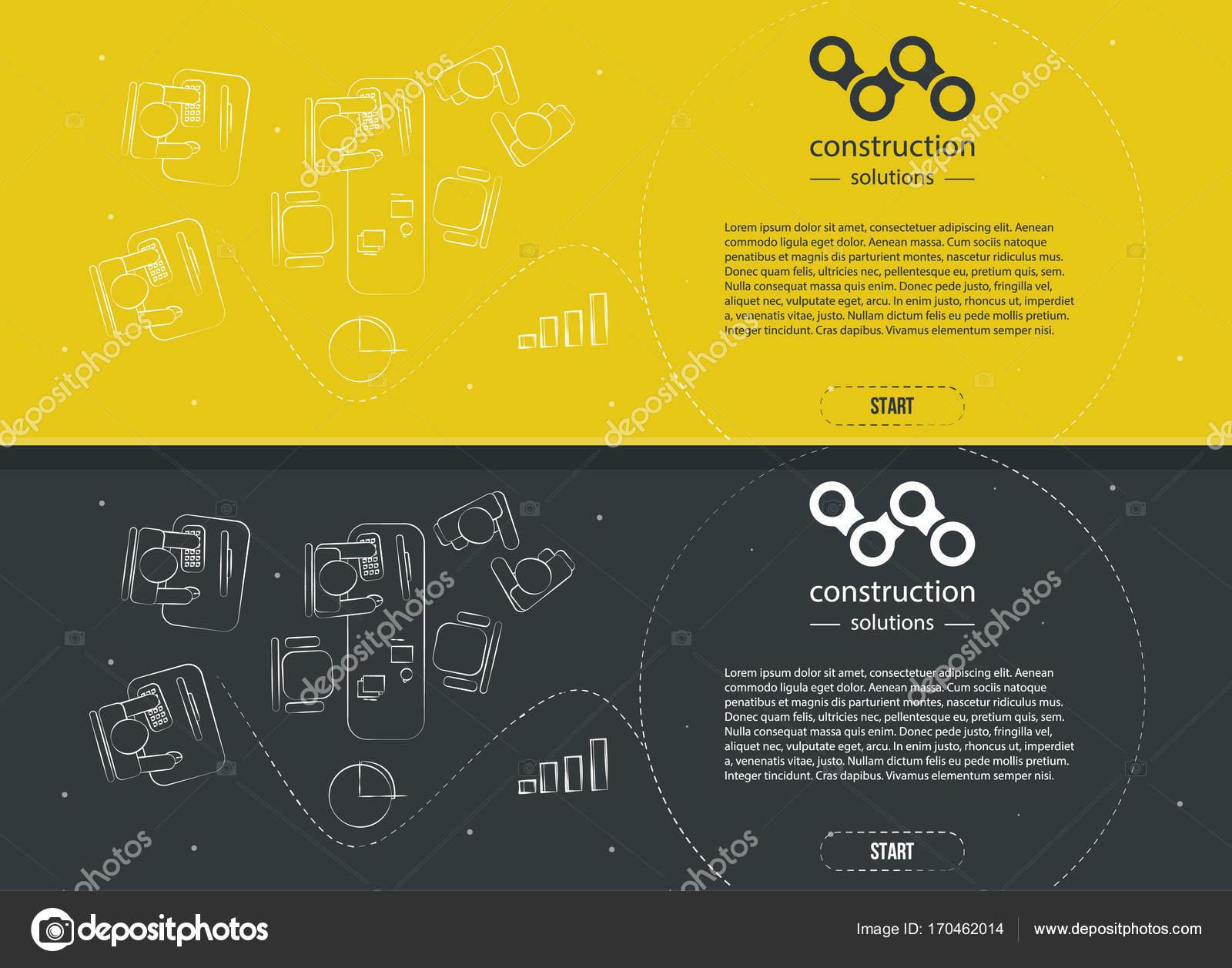 Design De Estilo De Linha Para Web Site Modelo De Banner