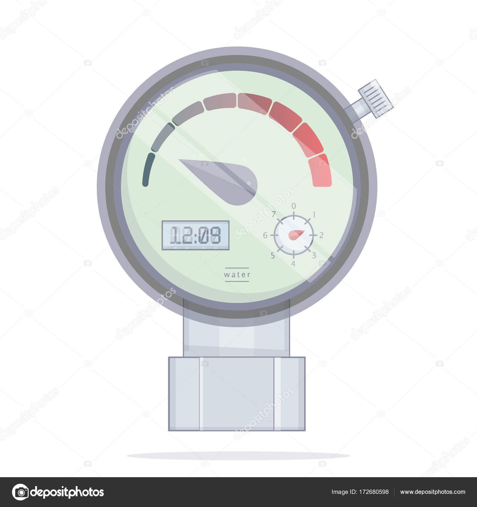 Manomètre de pression de capteur. Outils vectoriels icône. Le ...