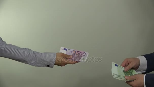 euro cash money pay for services. 4K