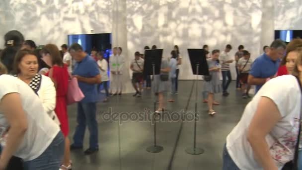 lot of visitors people in Korea pavilion in Expo 2017 international exhibition