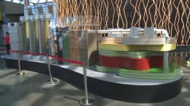 Laser- en led verlichting installatie op expo 2017 tentoonstelling ...