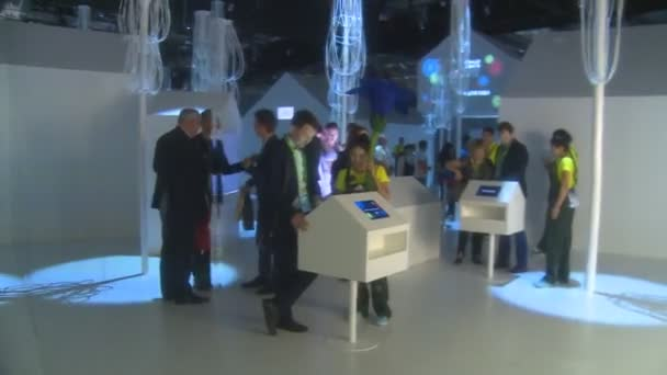 Tourist people in Switzerland EXPO 2017 international exhibition pavilion