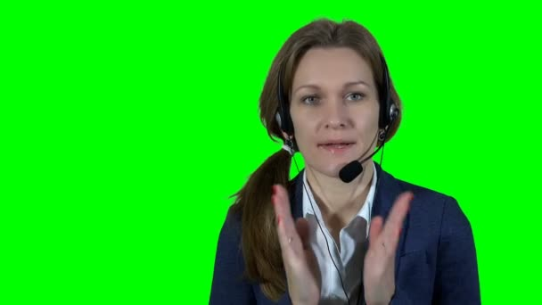 Professional financial consultant adviser woman with headset consulting customer
