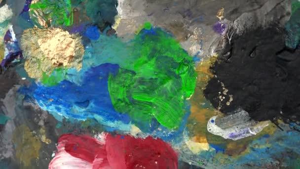 Farbpalette Farbdetail. Drehscheibe gegen den Uhrzeigersinn