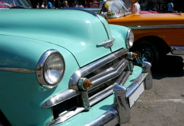 Havana, Cuba - 16 June 2016 : Old car in downtown Havana, Cuba