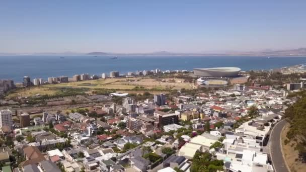 Aerial view over Green Point, Cape Town, South Africa