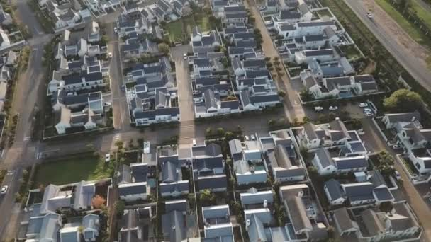 Aerial of suburban houses