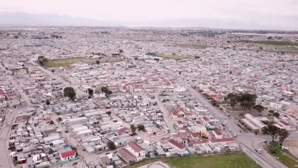 Aerial overhead township in South Africa