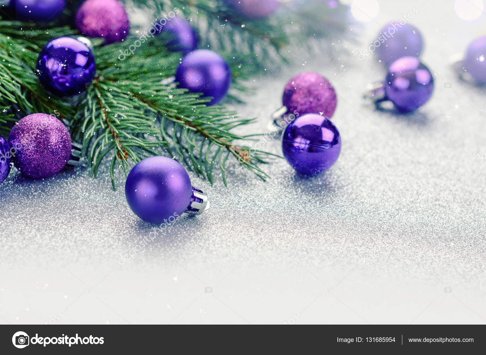 Décoration De Noël Violet Photographie Alekso94 131685954